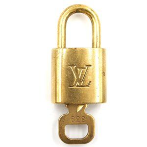 Louis Vuitton Gold Keepall Speedy Lock Key Set#339